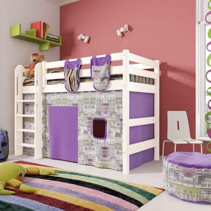 """Кровать полувысокая """"Соня"""" (вариант 5) с прямой лестницей"""