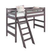 Вариант 6 Полувысокая кровать Соня Лаванда с наклонной лестницей