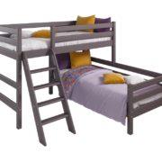 Вариант 8 Угловая кровать Соня Лаванда с наклонной лестницей