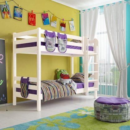 """Кровать двухъярусная """"Соня"""" (вариант 9) с прямой лестницей"""