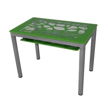 Стол обеденный В 828-2 (стекло зеленое)
