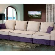 "Диван-кровать ""Бостон"" 2800 (стандарт) Мора бежевый/Мора бежевый/Мора фиолетовый"