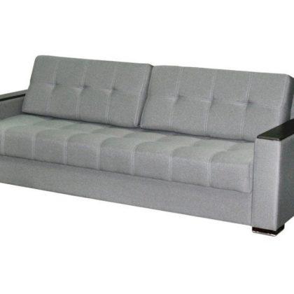 """Диван-кровать """"Монако-6"""" (Классик компонент серый/Кофе структурный матовый)"""