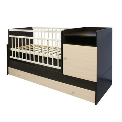 """Кровать-трансформер """"Малыш"""" венге/выбеленый"""