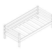 """Кровать """"Соня"""" (вариант 2) с задней защитой схема"""