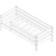 """Кровать """"Соня"""" (вариант 3) с защитой по периметру 2 схема"""