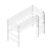 """Кровать полувысокая """"Соня"""" (вариант 5) с прямой лестницей 1 схема"""