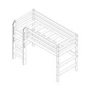 """Кровать полувысокая """"Соня"""" (вариант 5) с прямой лестницей 2 схема"""