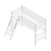 """Кровать полувысокая """"Соня"""" (вариант 6) с наклонной лестницей 2 схема"""