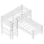 """Кровать угловая """"Соня"""" (вариант 7) с прямой лестницей 1"""