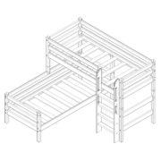 """Кровать угловая """"Соня"""" (вариант 7) с прямой лестницей 2"""