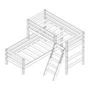 """Кровать угловая """"Соня"""" (вариант 8) с наклонной лестницей 2 схема"""