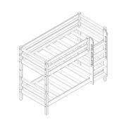 """Кровать двухъярусная """"Соня"""" (вариант 9) с прямой лестницей 1 схема"""