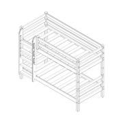 """Кровать двухъярусная """"Соня"""" (вариант 9) с прямой лестницей 2 схема"""