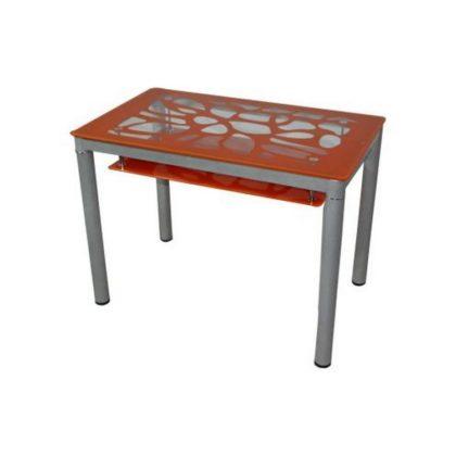 Стол обеденный В 828-2 (стекло оранжевое)