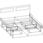 """Кровать двуспальная с ящиками """"Беатрис""""  схема"""