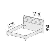 """Кровать двуспальная 1,6 м """"Розали"""" 96.01 схема"""