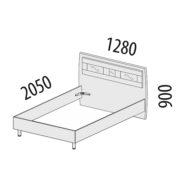 """Кровать 1,2 м """"Розали"""" 96.03.1 схема"""