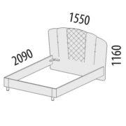 """Кровать двуспальная 1,4 м """"Версаль"""" 99.02 схема"""