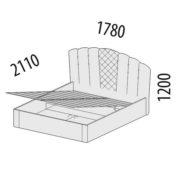 """Кровать с подъемным механизмом """"Версаль"""" 99.21 схема"""