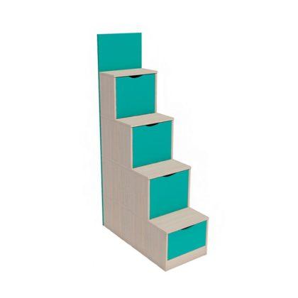 """Лестница с ящиками НМ 011.64 """"Рико"""" (аква)"""