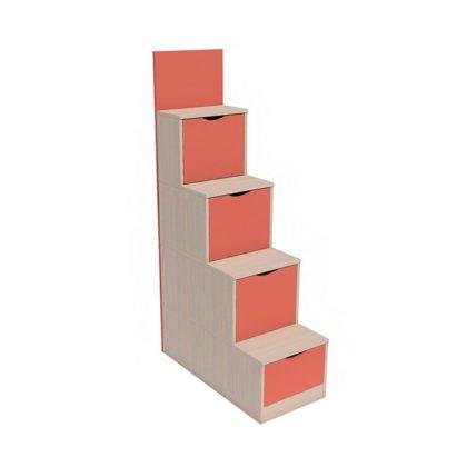 "Лестница с ящиками НМ 011.64 ""Рико"" (коралл)"