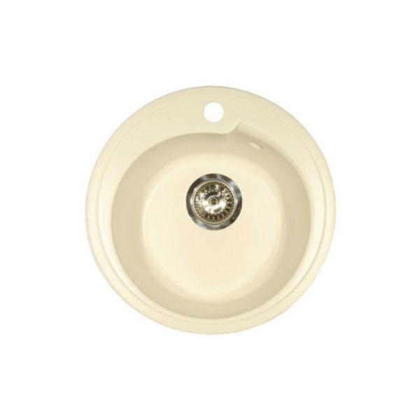 Каменная мойка AxelLux АХ11 кругл белый 331