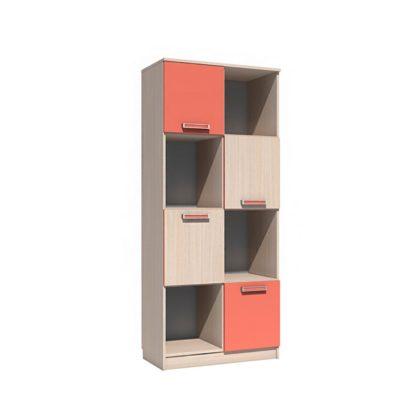 "Шкаф для книг НМ 009.06 М ""Рико"" (коралл)"