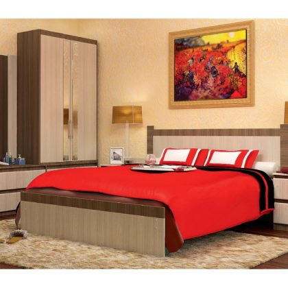 Спальный гарнитур Vivo-10 (ЛДСП), ясень