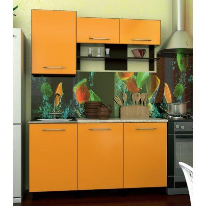 Кухонный гарнитур Dolce vita-29 венге-оранж