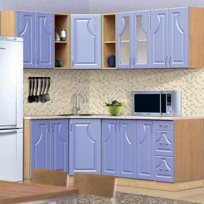 Кухонный гарнитур Dolce vita-9 дуб-голубой лед