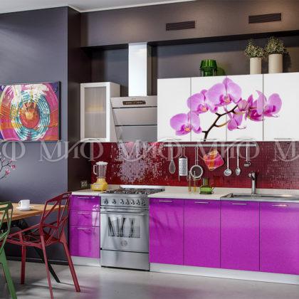 """Кухонный гарнитур """"Орхидея"""" (фиолетовый)"""