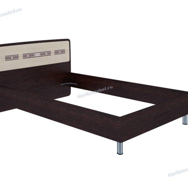 """Кровать двуспальная 1,2 м """"Ривьера"""" 95.03.1"""
