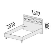 """Кровать двуспальная 1,2 м """"Ривьера"""" 95.03.1 схема"""