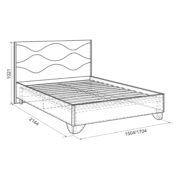 """Кровать двуспальная """"Зара"""" Комфорт 1,6 м схема"""