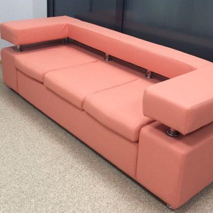 """Офисный диван """"Босс"""" трехместный, розовый"""