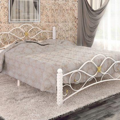 """Кровать двуспальная """"Гарда-3"""" на металлокаркасе (Белый)"""