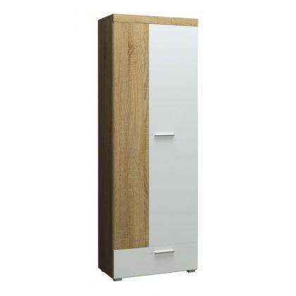 "Шкаф для одежды ""Best"" №3.0 (Дуб табачный/Белый глянец)"