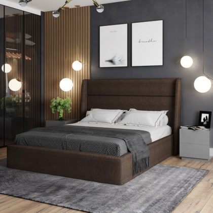 """Кровать двуспальная мягкая """"Бруклин"""""""