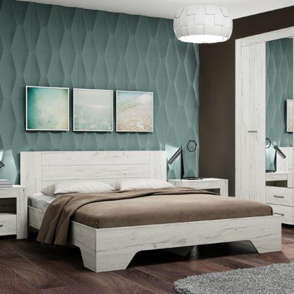 Спальня Квадро-1 дуб крафт белый
