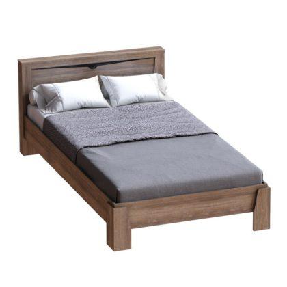 """Кровать 2х спальная 1,6 м """"Соренто"""" дуб стирлинг/кофе структурный матовый"""
