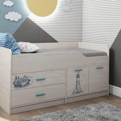 Кровать двухъярусная Каприз-17 с рисунком Морская тема КПР.17